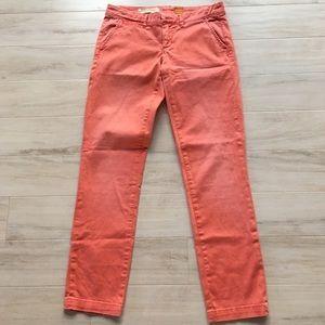 Anthropologie Pilcro Peach Khaki Hyphen Pants